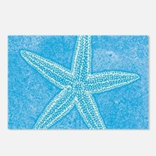 Aqua Blue Starfish Postcards (Package of 8)