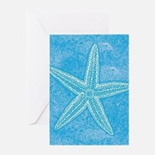 Aqua Blue Starfish Greeting Card