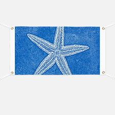 Aqua Blue Starfish Banner