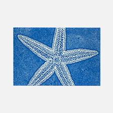 Aqua Blue Starfish Rectangle Magnet