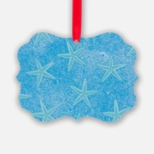 Aqua Blue Starfish Ornament