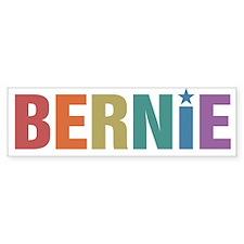 Bernie Vintage Rainbow Bumper Bumper Sticker