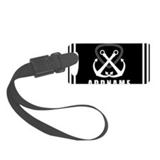 Black and White Double Anchor Pe Luggage Tag