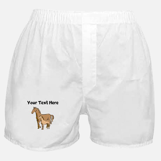 Horse And Foal (Custom) Boxer Shorts