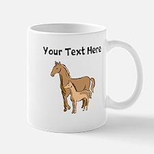 Horse And Foal (Custom) Mugs