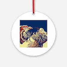 vintage american wild turkey Ornament (Round)