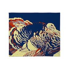 vintage american wild turkey Throw Blanket