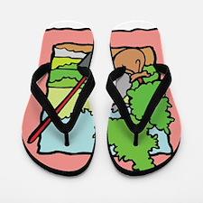 Recycle plant trees Flip Flops