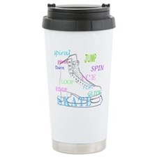 Cute Ice skating christmas Travel Mug