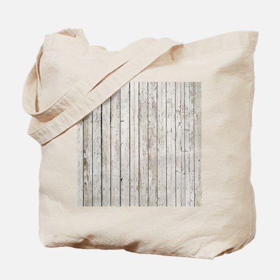 shabby chic white barn wood Tote Bag