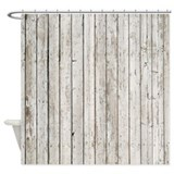 Rustic wood Shower Curtains