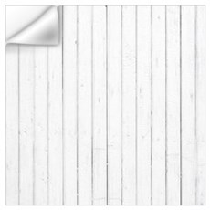 shabby chic white barn wood Wall Decal