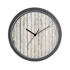 shabby chic white barn wood Wall Clock
