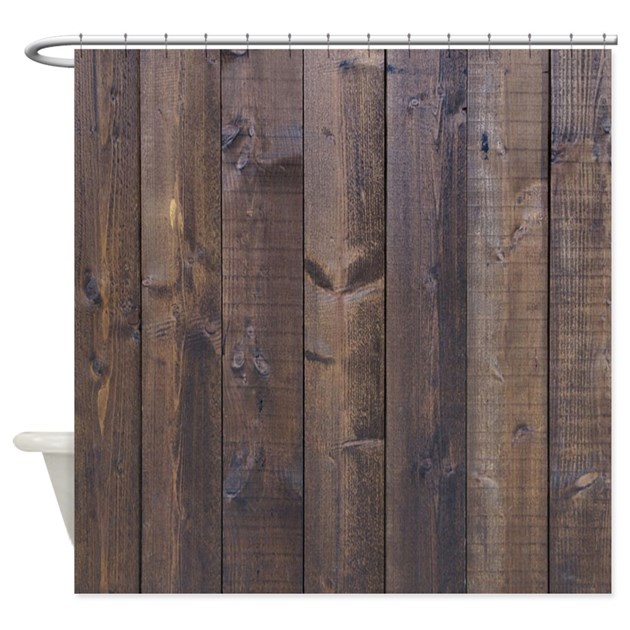 Western Country Barn Wood Shower Curtain By Listing Store