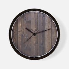 western country barn wood Wall Clock