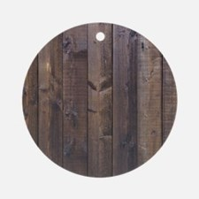 western country barn wood Round Ornament