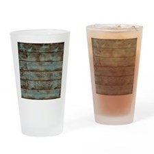 rustic western turquoise barn wood Drinking Glass