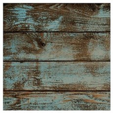 rustic western turquoise barn wood Poster