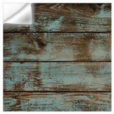 rustic western turquoise barn wood Wall Decal