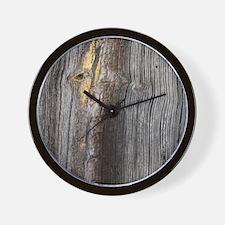 rustic primitive grey barn wood Wall Clock
