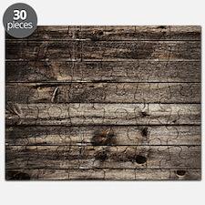 rustic primitive grey barn wood Puzzle