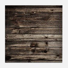 rustic primitive grey barn wood Tile Coaster