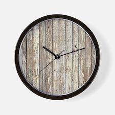 shabby chic white barn wood Wall Clock