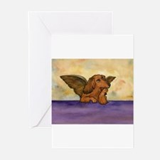 Cool Angel doxie Greeting Cards (Pk of 20)