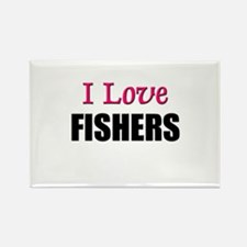 I Love FISHERS Rectangle Magnet