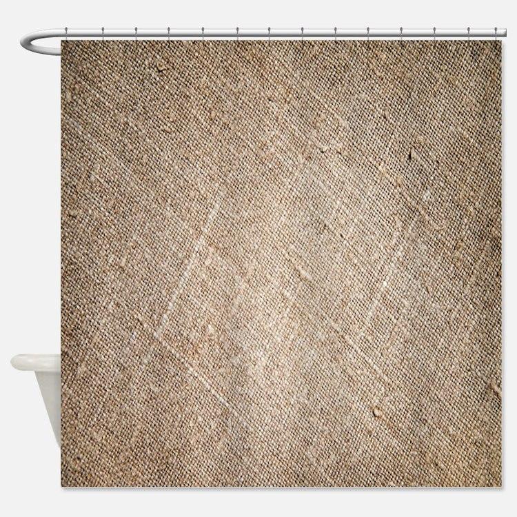 shabby chic vintage burlap Shower Curtain