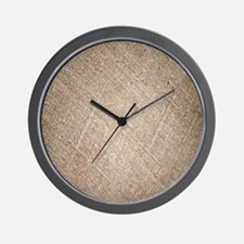 shabby chic vintage burlap Wall Clock