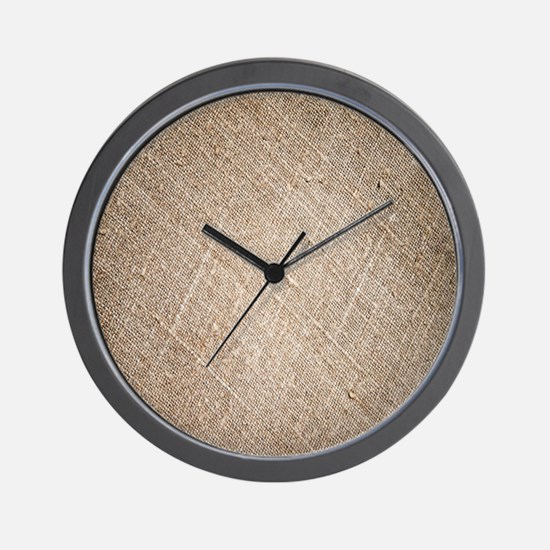 shabby chic vintage burlap Wall Clock