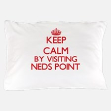 Keep calm by visiting Neds Point Massa Pillow Case