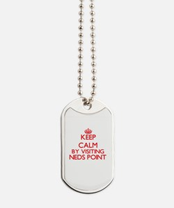 Keep calm by visiting Neds Point Massachu Dog Tags