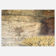 barn wood wheat horseshoe