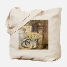 barn wood wheat horseshoe  Tote Bag