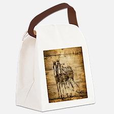 western country farm horse Canvas Lunch Bag