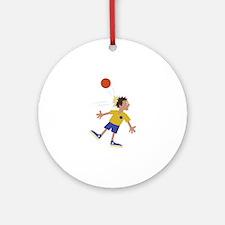 Dodgeball Kid Ornament (Round)