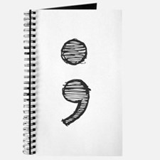 Semi Colon (Handdrawn) Journal