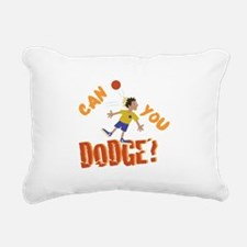 Can You Dodge? Rectangular Canvas Pillow