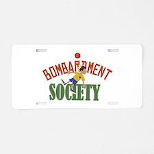 Bombardment Society Aluminum License Plate