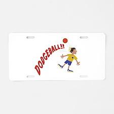 Dodgeball Aluminum License Plate