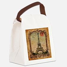 vintage paris eiffel tower Canvas Lunch Bag