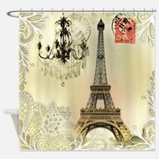 girly lace paris eiffel tower Shower Curtain