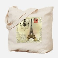 girly lace paris eiffel tower Tote Bag
