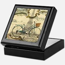 eiffel tower paris bike Keepsake Box