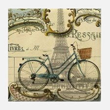 eiffel tower paris bike Tile Coaster