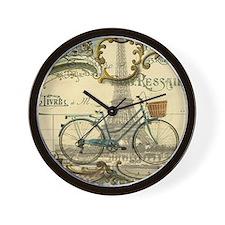 eiffel tower paris bike Wall Clock