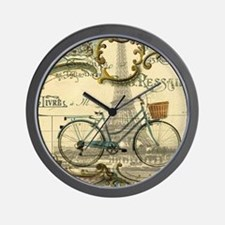 eiffel tower paris bike Wall Clock