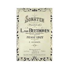 Beethoven Sonata Rectangle Magnet